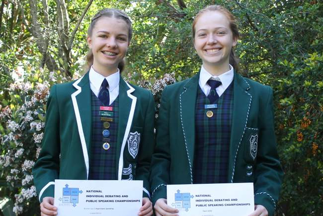 HOT TALK: Clarendon High School pupils Caitlin Laing and Heather Sandison will be representing South Africa in Australia next year for the World Individual Debating and Public Speaking Championship.
