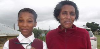 Breidbach Primary athlete Veronique Sidiki stands with her proud mother, Linda Pharo, after she was rewarded a silver medal during the EC Provincial Athletics Championships in Cradock recently. Veronique came second in the Girls U11 80m event and will now represent the province at the nationals scheduled for Potchefstroom from today. 'This will be my second attempt after coming third at nationals in Port Elizabeth last year,' Veronique said