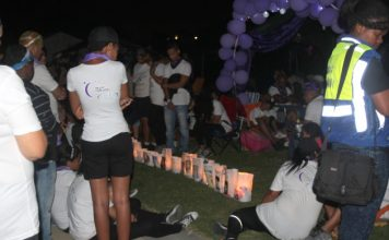 Hundreds of people again took part in the annual Relay for Life event at Jan Smuts stadium. The event, which highlights cancer, continues through the night to show cancer does not sleep. Loved ones again lit candles in bags, with pictures of family members who have passed on from the disease attached to them