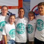 Stirling Primary pupils did exceptionally well at the Surfer's Marathon recently. In fact, the first three boys' positions and the first two girls' positions in the Junior Surfers all went to Stirling pupils. From left are, Kiara Herman (first U13 girl), Amber Herman (second U13 girl), Sherwin Bauer (third U13 boy), Nathan Gallacher (first U13) and Asha Hoare (second U13 boy)