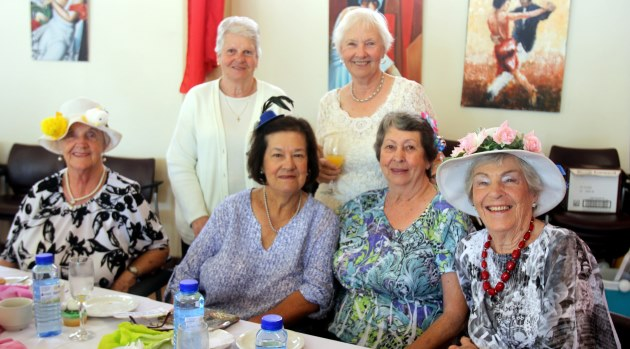 All the ladies at Bonza Bay Rotary Club's Easter Bonnet dressed to impress in their beautiful hats. Pictured at the event is, from left back, Olga Guest, Lyn Fontbin, Joan Staffen, Pat Westley, Stella Paul and Adeline Richter Picture: ETHIENNE ARENDS